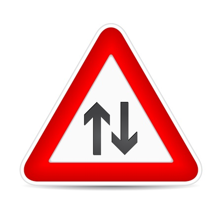 against traffic, traffic sign. illustration Vector