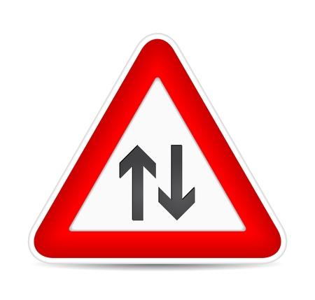 against traffic, traffic sign. illustration Stock Vector - 17885208