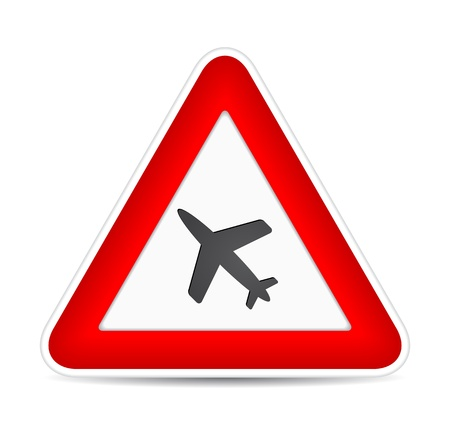 Airplane icon. Traffic sign.  illustration Stock Vector - 17885230