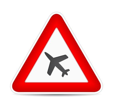 air traffic: Airplane icon. Traffic sign.  illustration