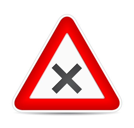 traffic sign crossroad.  illustration Vector