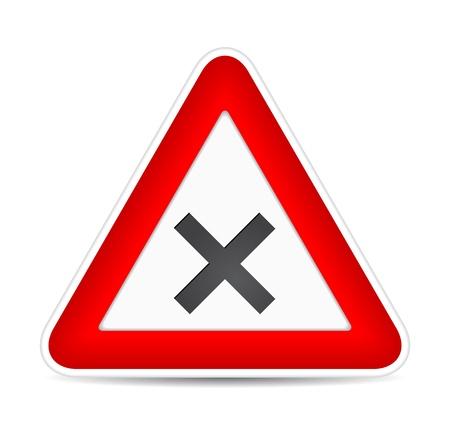 narrows: traffic sign crossroad.  illustration Illustration