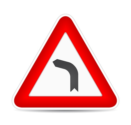 Turn left traffic sign. illustration Vector