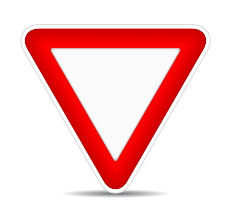 Red and white traffic sign, illustration Stock Vector - 17885201