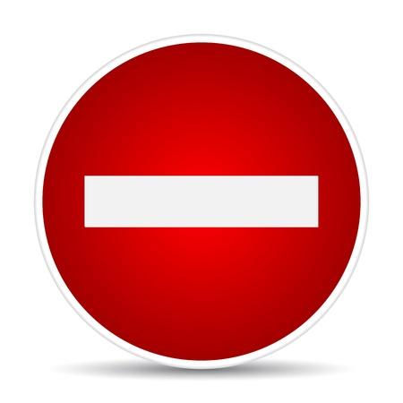 Rond teken No Entry. illustratie