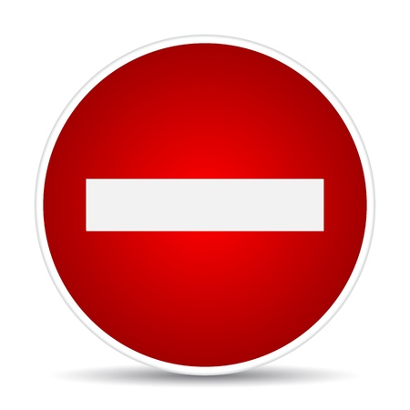 Round sign No Entry. illustration Vector