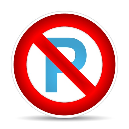No parking sign.  illustration Vector