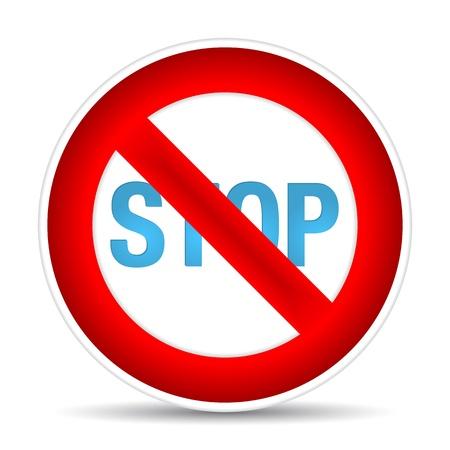 No parking sign.  illustration Stock Vector - 17885198