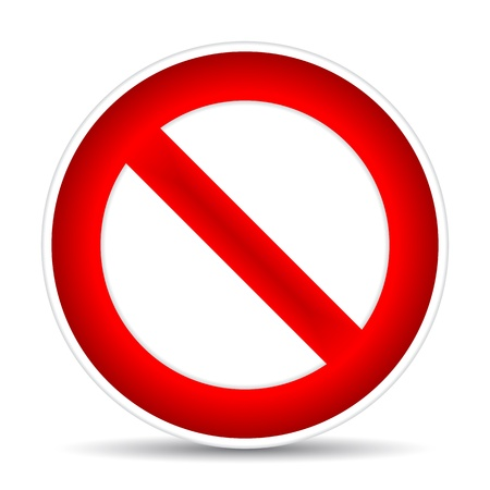 No sign.  illustration Stock Vector - 17885174