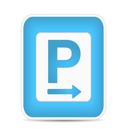 Car parking sign,  illustration Stock Vector - 17885196