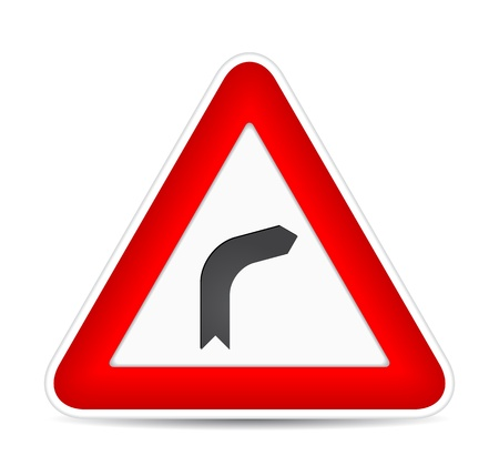 Turn right traffic sign.  illustration Vector