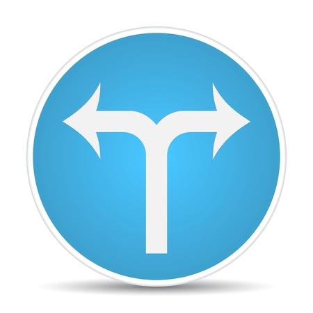 road traffic sign.  illustration Stock Vector - 17885165