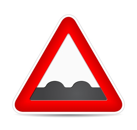 Uneven traffic sign.  illustration Stock Vector - 17885225