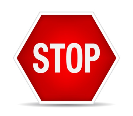 Stop sign. illustration Stock Vector - 17885149