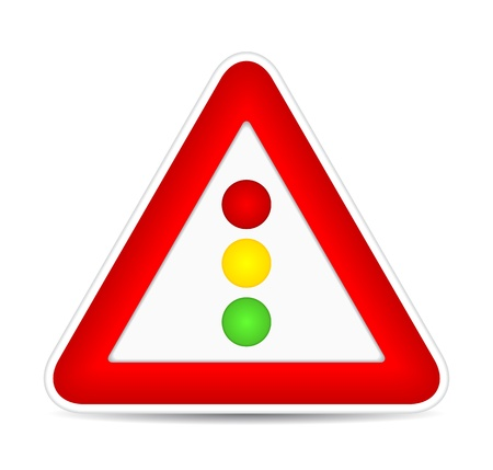 autoscuola: segnali stradali, semafori. illustrazione Vettoriali