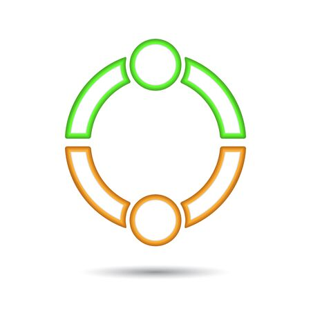 business relationship: Business icon. Handshake. Transaction.  illustration Illustration