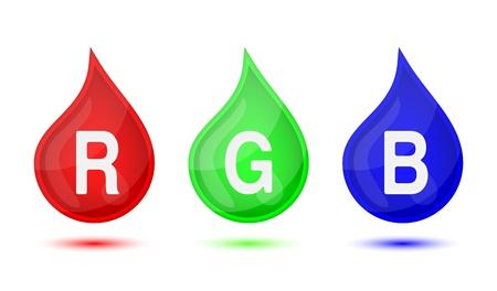 modes: RGB color modes droplet, vector illustration