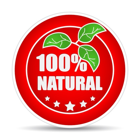 100 percent natural icon. Vector illustration Vector