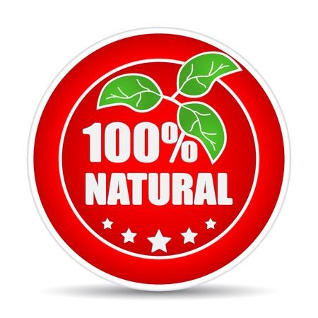 100 por ciento icono natural. Ilustración vectorial Ilustración de vector