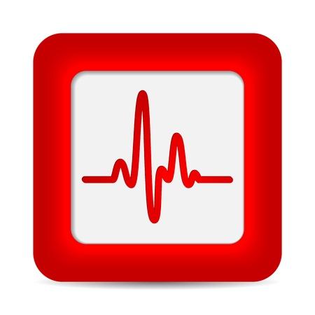 Cardiogram, heartbeat monitor Stock Vector - 18595608