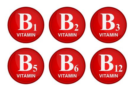 비타민 B 군 건강한 삶 개념 일러스트
