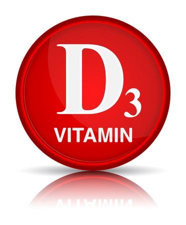 Vitamins group D3. Healthy life concept Illustration