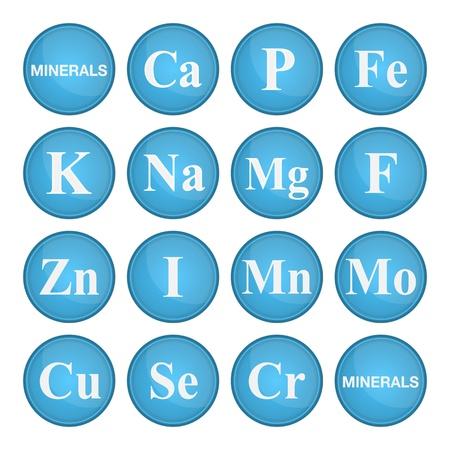 mineralien: Mineralien (Vitamine). Gesundes Leben-Konzept