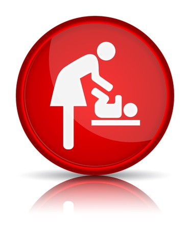 wc sign: icon toilet, symbol for women and baby, baby changing