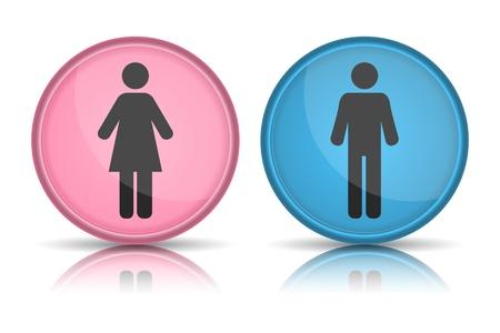 icon WC, Man &, Frau