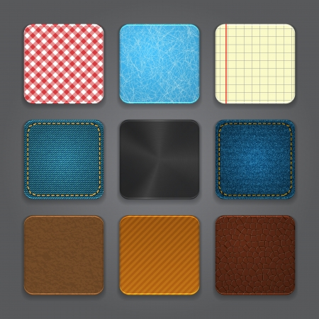 App icons background set  Glossy web button icons  illustration Vector