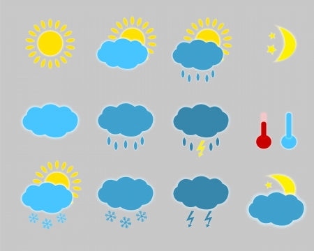 Weather icons - set. Stock Vector - 21862921