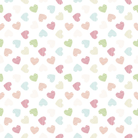 Seamless geometric pattern with hearts  Modern stylish texture  Vector repeating texture Stock Vector - 21862925