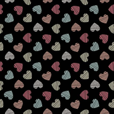 Seamless geometric pattern with hearts  Modern stylish texture  Vector repeating texture Vector