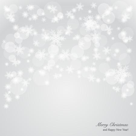 snow falls: Elegant Christmas background Illustration