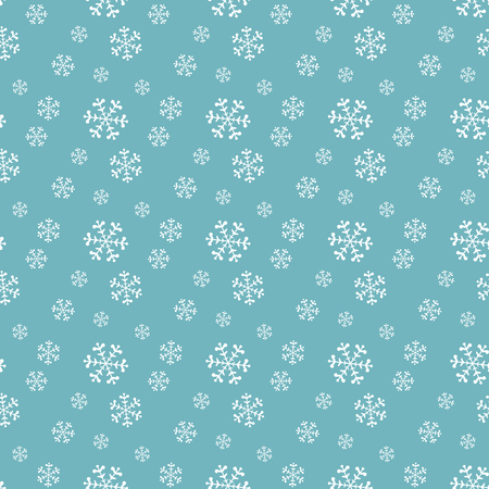 Seamless blue pattern with snowflakes  illustration Vector
