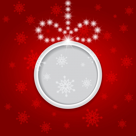 Glowing shiny christmas background with ball  Vector
