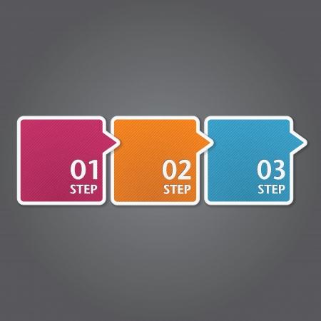 Modernes Design template  kann für Infografiken verwendet werden  nummeriert Banner  Grafik oder Layout der Website Vektor