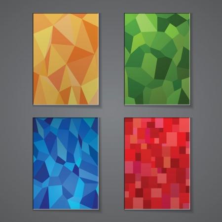 Eine Reihe von modernen Vektor Broschüre Cover-Design-Vorlagen mit polygonalen Hintergrund. Vector