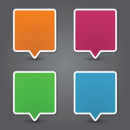 Set of colorful 3d speech bubbles. Vector Vector