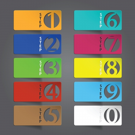 Abstract infographics number options template  Vector illustration