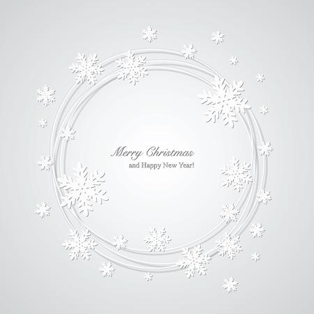 Weihnachten grau Hintergrund mit Schneeflocken und Platz für Text