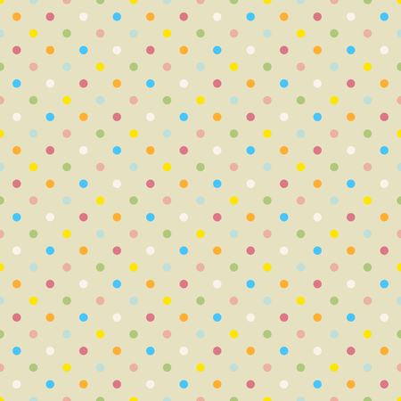 Seamless polka dot colorful pattern with circles  Vector Vector