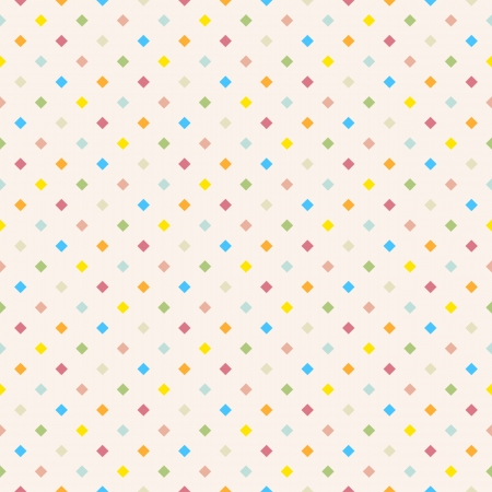 Seamless polka dot colorful pattern with squares  Vector Vector