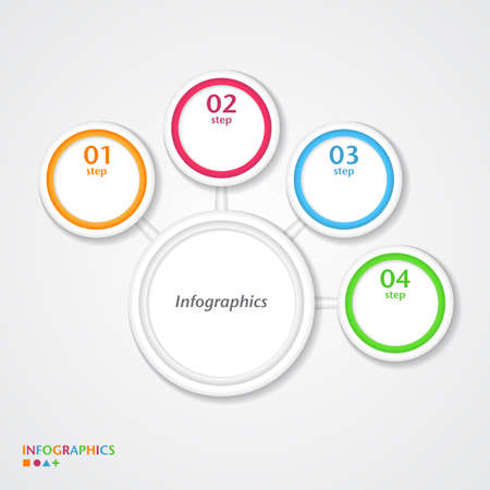 Abstract infographics number options template. Vector illustration Vector