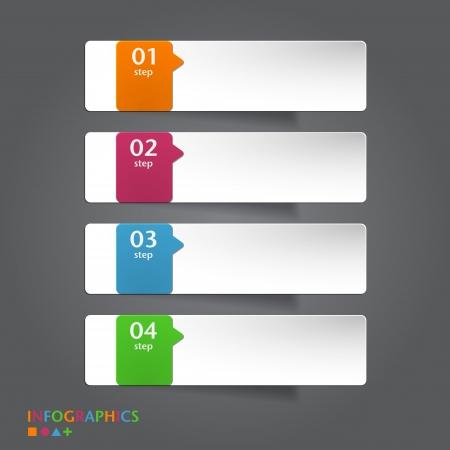 Abstrakte Infografiken Banner, entwirft-Etikett-Vorlage Vektor-Illustration