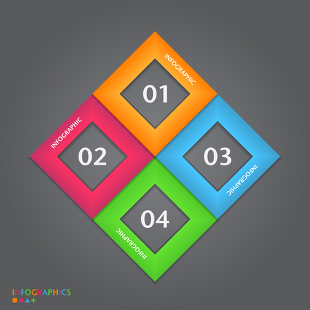 Infographic design template with modern flat style. Vector illustration Vector