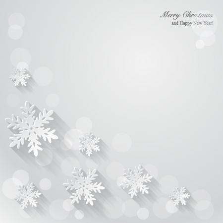 종이 눈송이와 크리스마스 배경입니다. 벡터 일러스트 레이 션.