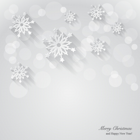 spangle: Christmas background with paper snowflakes. Vector Illustration.