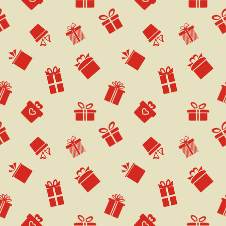 Seamless vector pattern with Gift boxes Vector