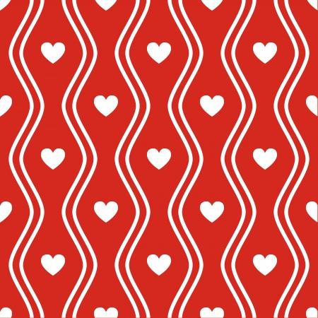 Patrón de color rojo transparente con corazones